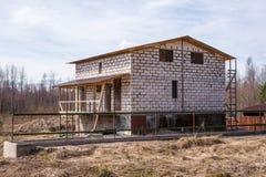 Casa sob a construção Fotos de Stock Royalty Free
