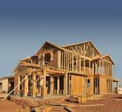 Casa sob a construção fotografia de stock