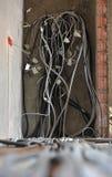 Casa sob a construção e o reparo em casa. Eletricidade. Fotos de Stock Royalty Free