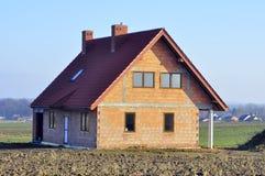 Casa sob a construção - fechada Fotografia de Stock Royalty Free