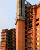 Casa sob a construção. Nascer do sol. Imagens de Stock