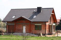 Casa sob o contruction Foto de Stock Royalty Free