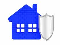 Casa sob a proteção Foto de Stock