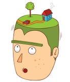 casa sobre minha cabeça Fotos de Stock Royalty Free