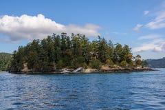 Casa sola en el bosque por el mar Foto de archivo libre de regalías