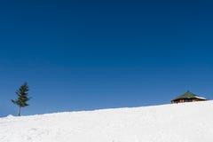 Casa sola en el invierno Fotos de archivo