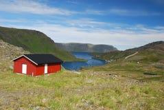 Casa sola en la isla de Mageroya Foto de archivo libre de regalías