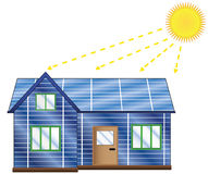 Casa solar Fotos de archivo libres de regalías
