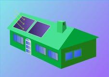 Casa solar Imágenes de archivo libres de regalías