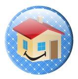 Casa solar del botón Imagenes de archivo
