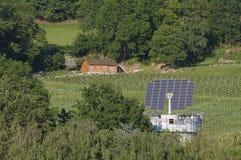 Casa solar em Freiburg foto de stock