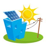 Casa solare Immagini Stock