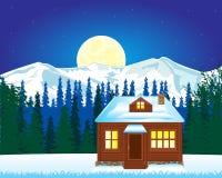 Casa solitário na montanha Fotos de Stock Royalty Free