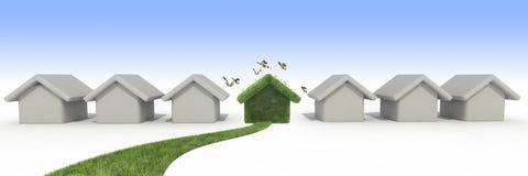Casa sostenibile Fotografia Stock