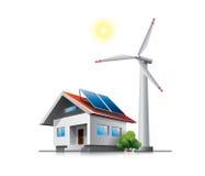 Casa sostenibile della famiglia Fotografia Stock