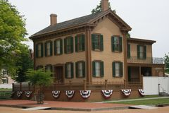 Casa Springfield Illinois de Abraham Lincoln imagem de stock royalty free