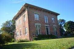 Casa storica del mattone di Italianate immagini stock