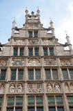 Casa storica del timpano a Gand, Belgio Fotografia Stock Libera da Diritti