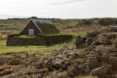 Casa storica Islanda Fotografia Stock