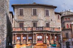 Casa storica. Narni. L'Umbria. L'Italia. Fotografia Stock