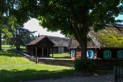 Casa storica polacca del villaggio Fotografie Stock Libere da Diritti