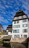 Casa storica sulla banchina del fiume malato. Strasburgo, Francia Immagini Stock