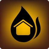 Casa su fuoco Immagine Stock