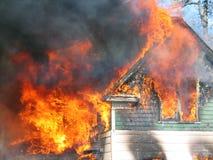 Casa su fuoco Immagine Stock Libera da Diritti