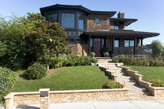 Casa su ordinazione in spiaggia di Newport, CA Fotografia Stock Libera da Diritti