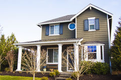 Casa suburbana Fotografia Stock