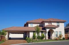 Casa suburbana immagini stock libere da diritti