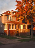 Casa suburbana americana Immagine Stock Libera da Diritti