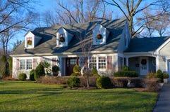 Casa suburbana in bava Ridge Illinois Fotografia Stock Libera da Diritti
