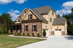 Casa suburbana dell'alta società Fotografia Stock Libera da Diritti