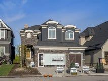 Casa suburbana della proprietà in costruzione Fotografia Stock Libera da Diritti