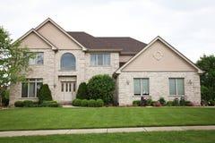 Casa suburbana do tijolo Foto de Stock