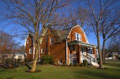 Casa suburbana in Illinois Immagine Stock