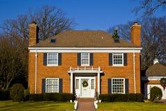 Casa suburbana in Illinois Fotografia Stock Libera da Diritti