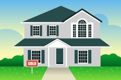 Casa suburbana para la venta Imágenes de archivo libres de regalías