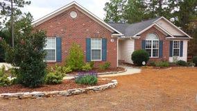Casa suburbana Pinehurst Carolina del Norte Imagenes de archivo