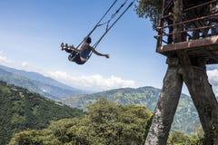 Casa sull'albero in Banos De Aqua Santa, Ecuador fotografie stock libere da diritti