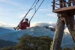 Casa sull'albero in Banos De Aqua Santa, Ecuador Immagine Stock Libera da Diritti