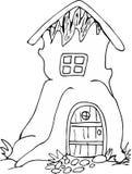 Casa sull'albero di scarabocchio Fotografia Stock Libera da Diritti