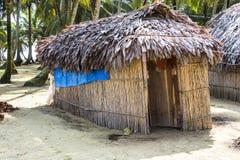 Casa sull'isola dei Caraibi Immagini Stock