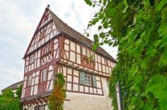 Casa suportada na vila região do vinho do vale de Punderich - de Moselle em Alemanha foto de stock royalty free