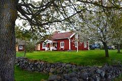 Casa svedese tradizionale Fotografia Stock