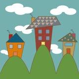 Casa sveglia sulla collina Immagini Stock