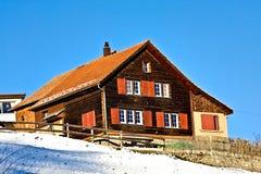 Casa svizzera Fotografie Stock Libere da Diritti