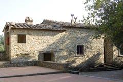 Casa típica de tuscan fotografia de stock