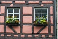 Casa típica del alemán Foto de archivo libre de regalías